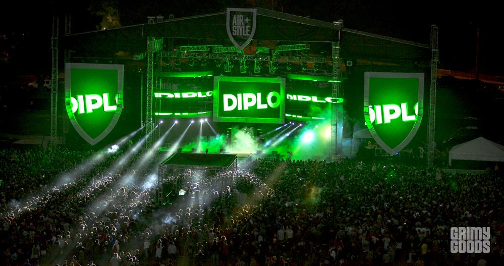 Diplo, Air + Style at the Rose Bowl, photo by Wes Marsala