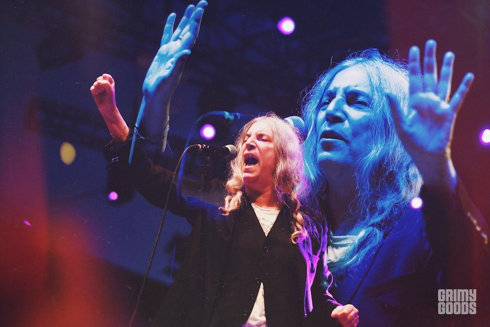 Patti Smith at Beach Goth V by Steven Ward