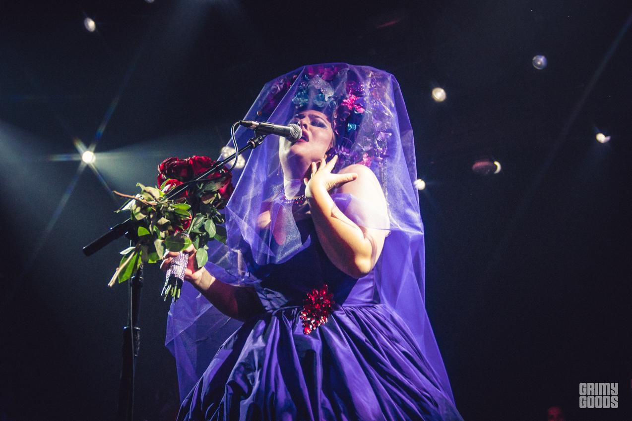san cha purple dress