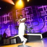 Leon Bridges at the Greek Theatre shot by Danielle Gornbein