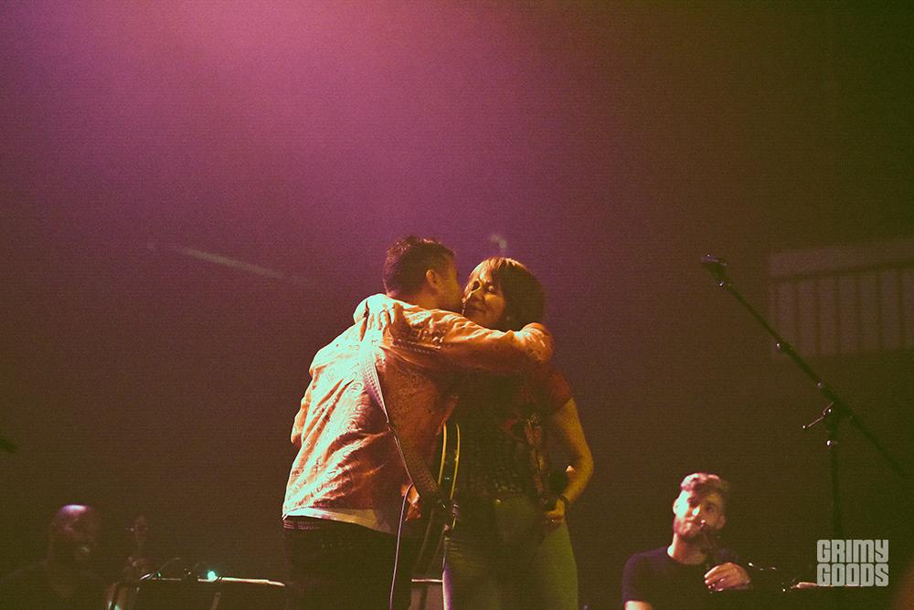 Rostam and Jenny Lewis at the Fonda Theatre shot by Danielle Gornbein