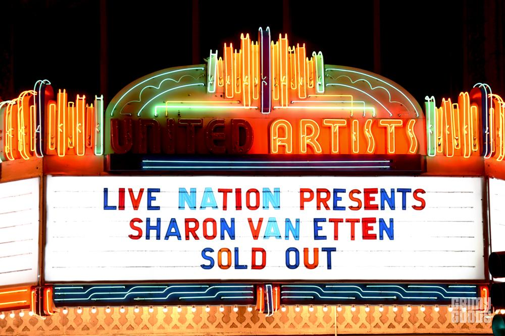 Sharon Van Etten at the Ace Theatre shot by Danielle Gornbein
