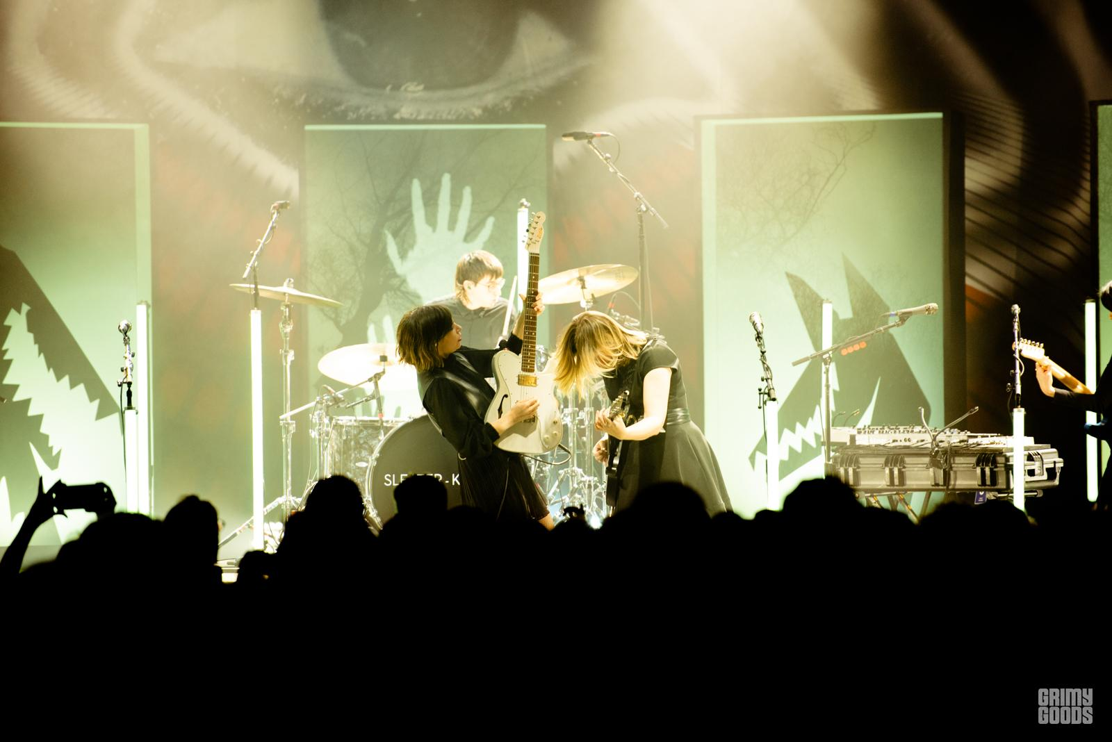 Sleater-Kinney at the Hollywood Palladium shot by Danielle Gornbein
