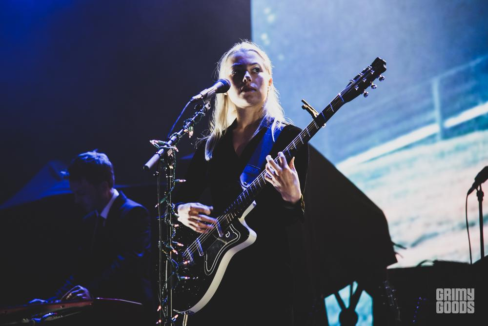 Phoebe Bridgers at the Santa Barbara Bowl shot by Danielle Gornbein