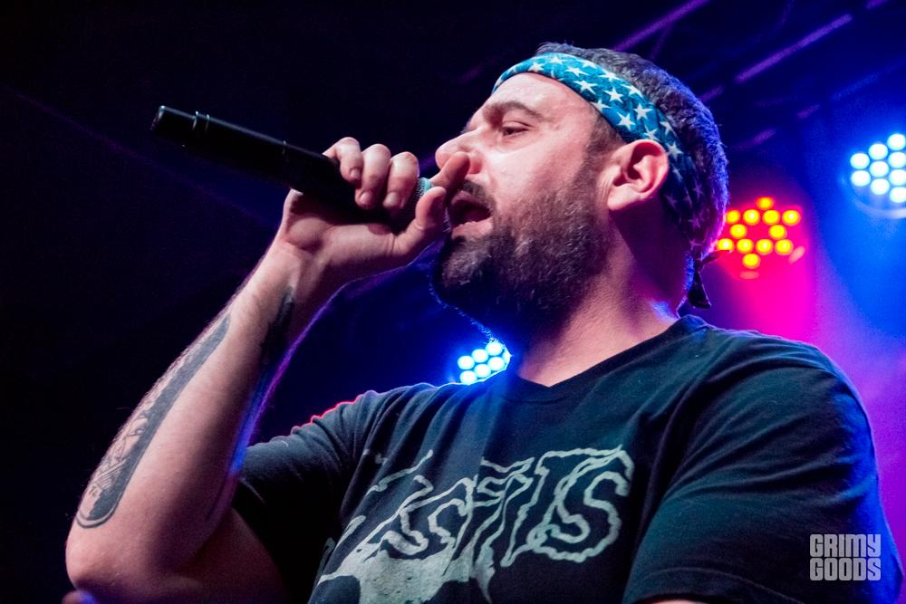 Aesop Rock with Rob Sonic and DJ Abilities, shot by: Lindsay Wiles