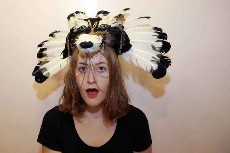 Deadbird headpieces by Dominoe Farris-Gilbert