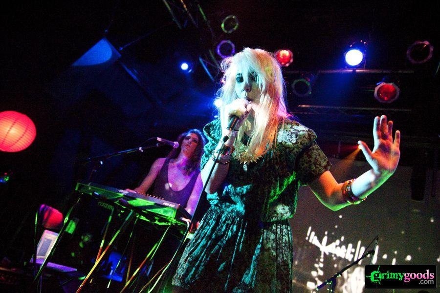 Austra (Katie Stelmanis) with Glass Candy at the Echoplex in Los Angeles