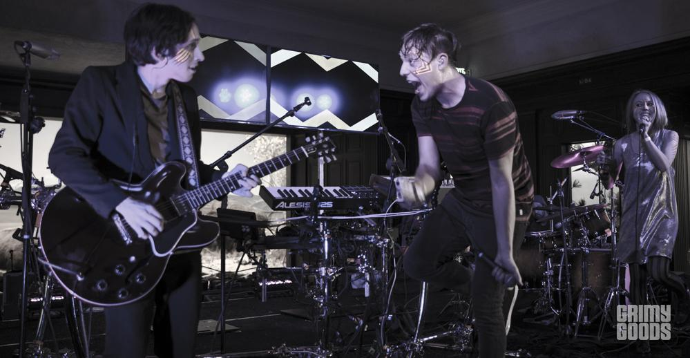 Robert Delong and friends playing at the Natural History Museum in Los Angeles, California, photo by Wes Marsala