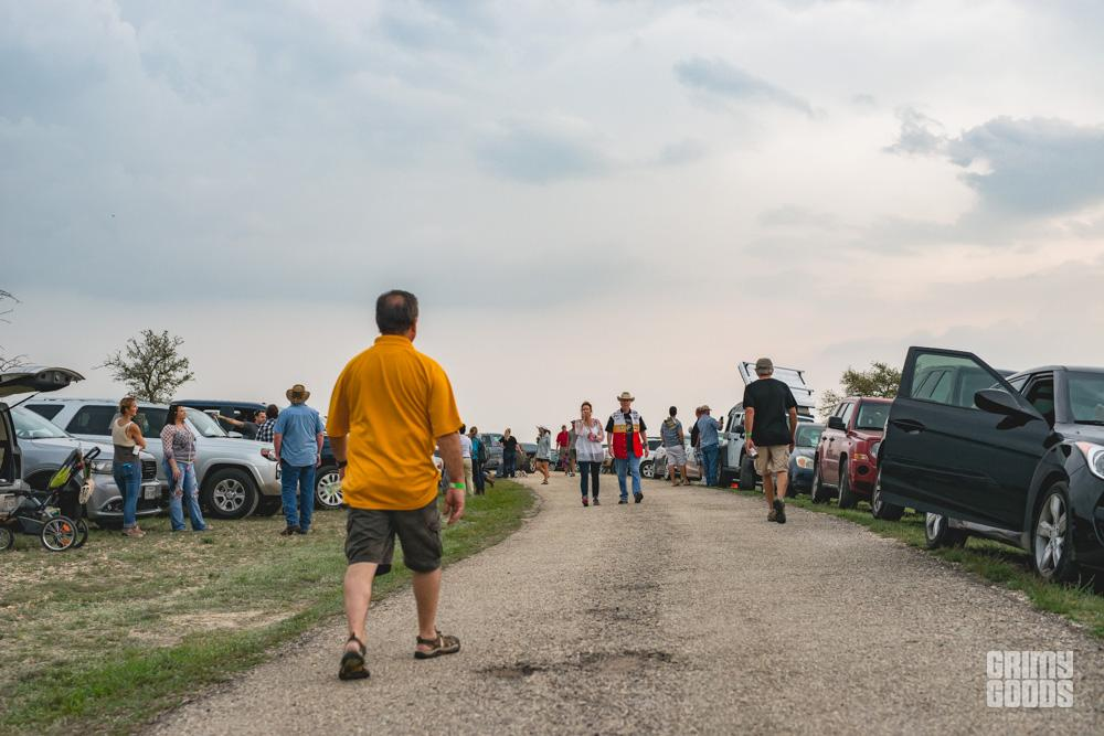 People waiting out the storm at Luck Reunion shot by Maggie boyd