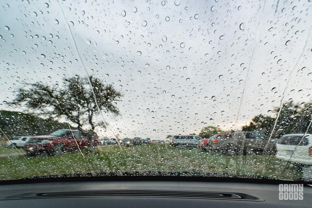 Rain coming down at Luck Reunion shot by Maggie boyd