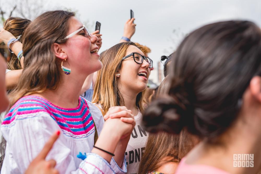 Crowd loving Jesse & Joy at Spotify House shot by Maggie Boyd