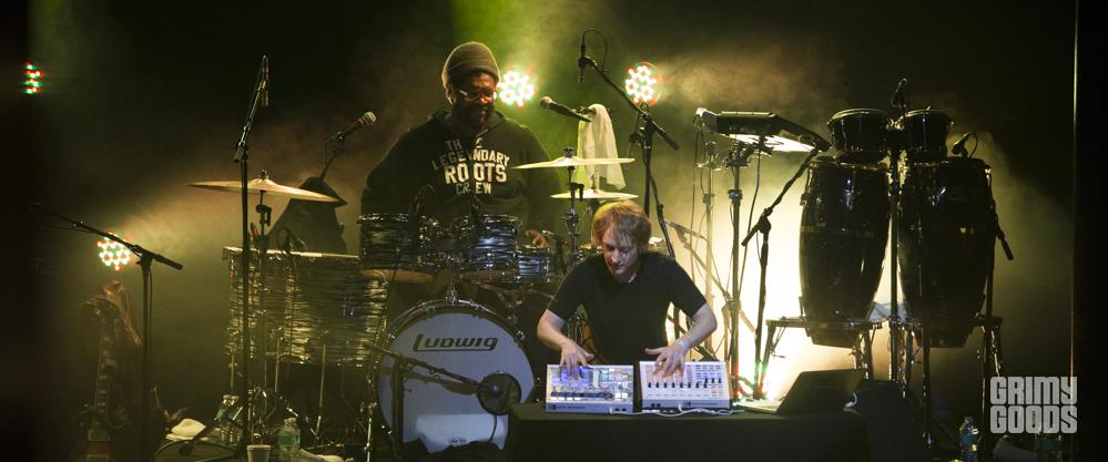Jeremy Ellis beat boxing with The Roots, The Observatory, photo by Wes Marsala