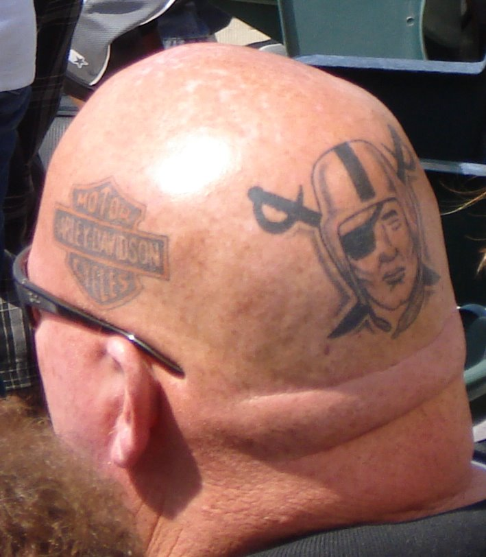 raiders tattoo harley davidson tattoo