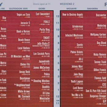 Coachella 2013 Set Times – Weekend Two - Friday
