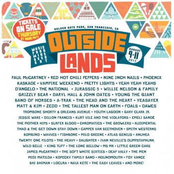 Outside Lands 2013 Line-Up