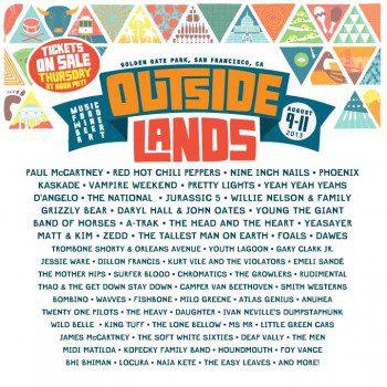 Outside Lands 2013 Line-Up