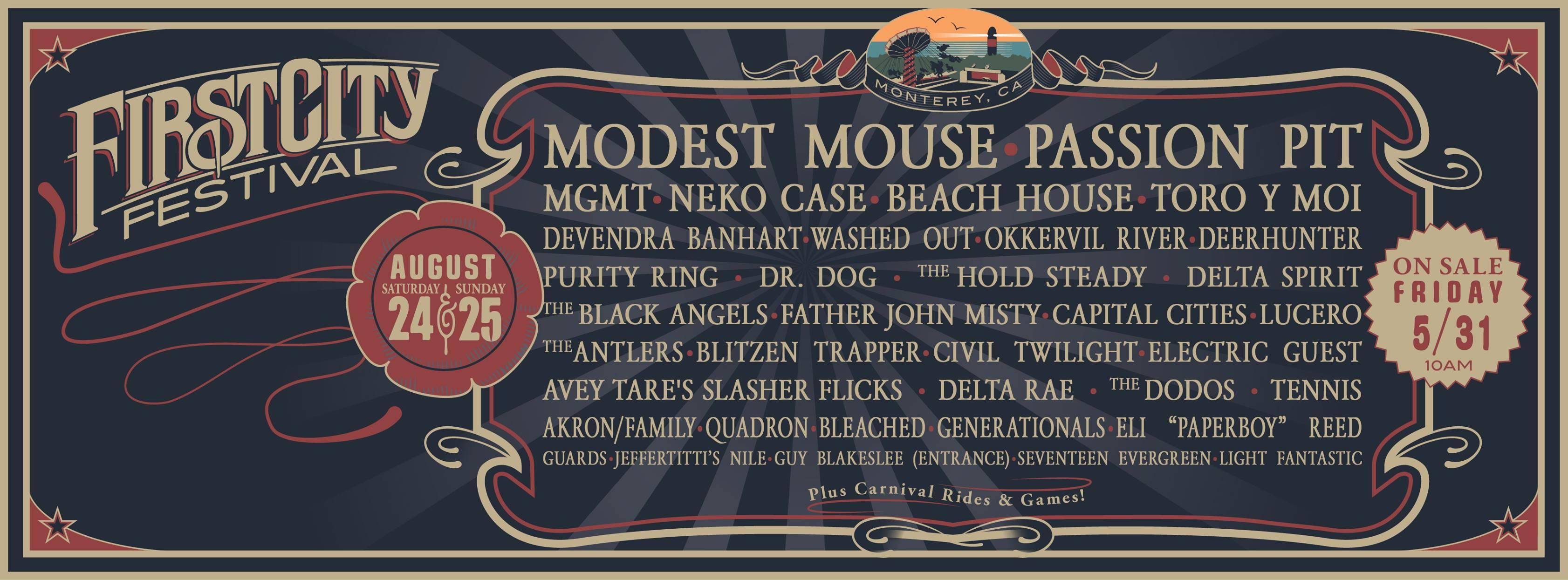 First City Festival Monterey ca tickets