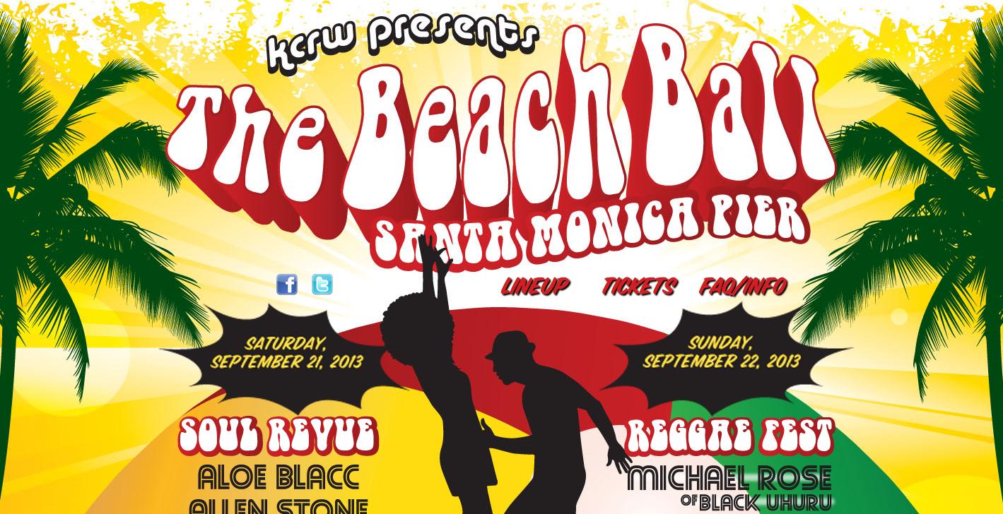 Beach Ball at Santa Monica Pier with Aloe Blacc Allen Stone