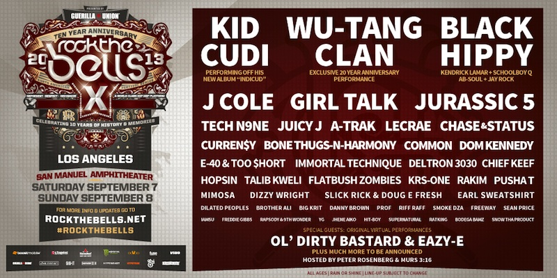 Win Tickets to Rock The Bells at San Manuel Amphitheater