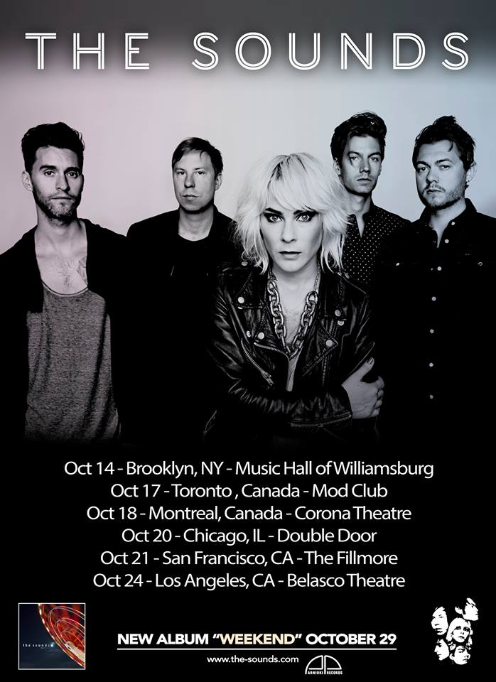 The Sounds October US Canada Tour Dates