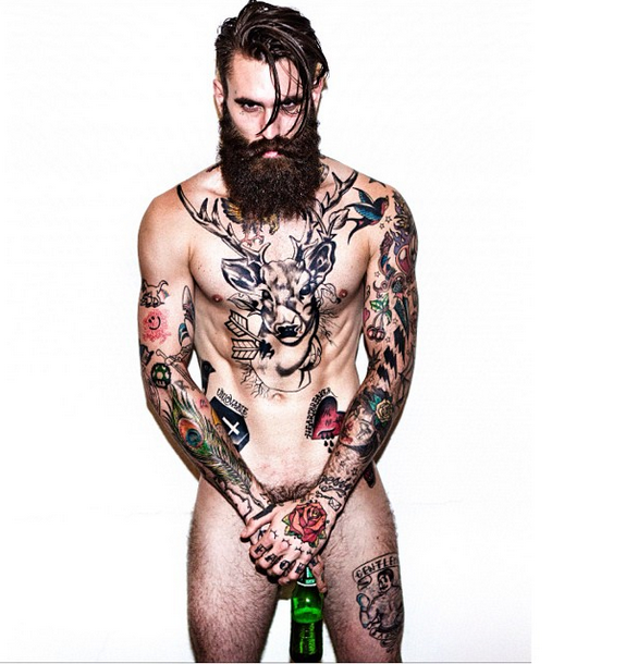 Rick Hall model beard naked