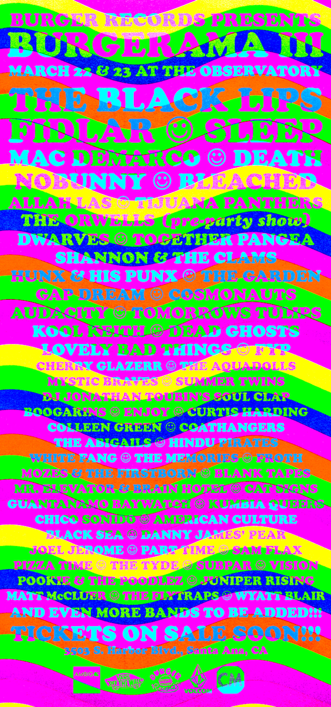 burgerama III line up bands 2014