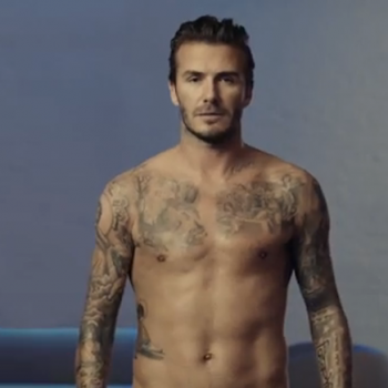 David Beckham h&m commercial photos super bowl
