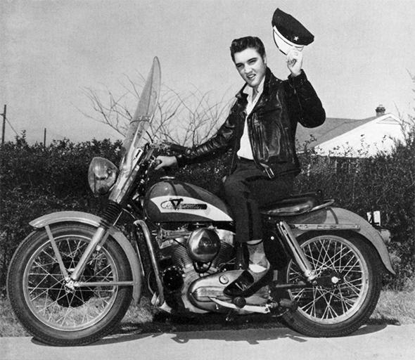 Elvis motorcycle leather jacket
