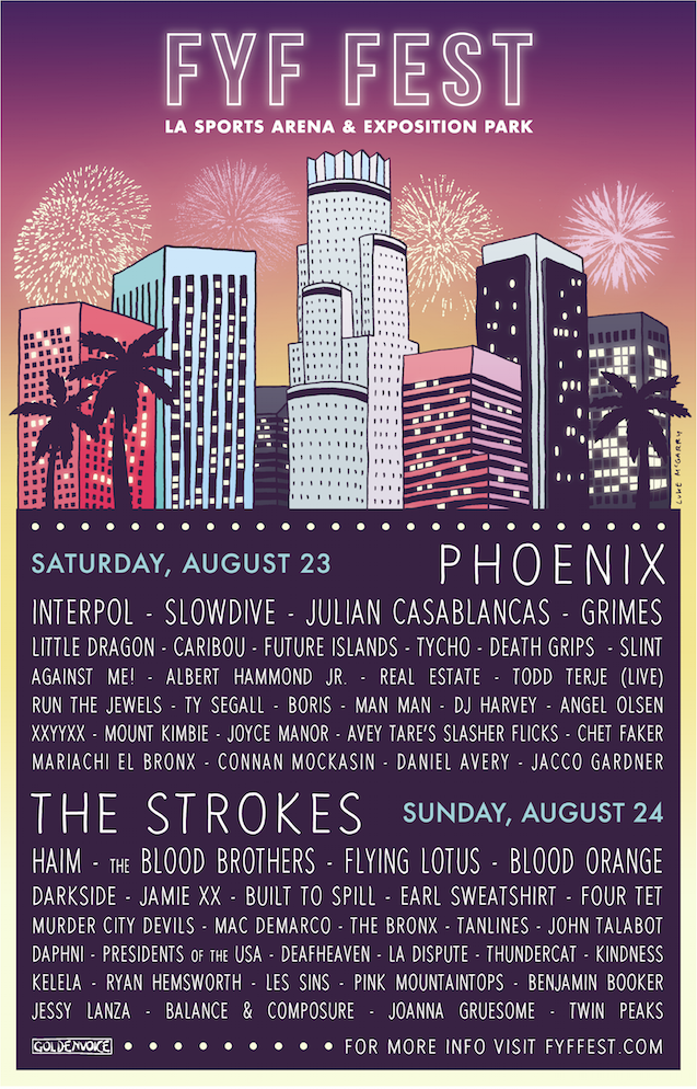 fyf fest 2014 lineup poster