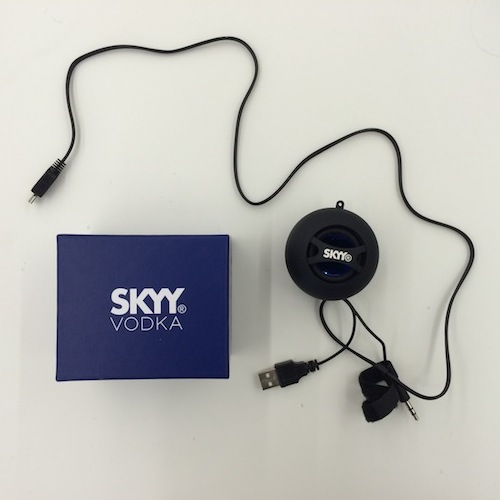 skyy vodka bluetooth speakers