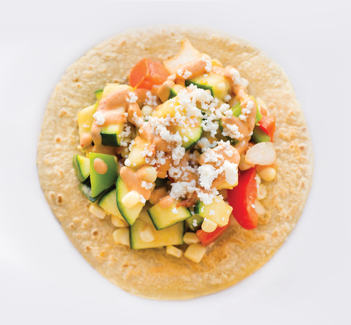 I'm ready for my close up. Pictured Guisados Calabacitas Taco.