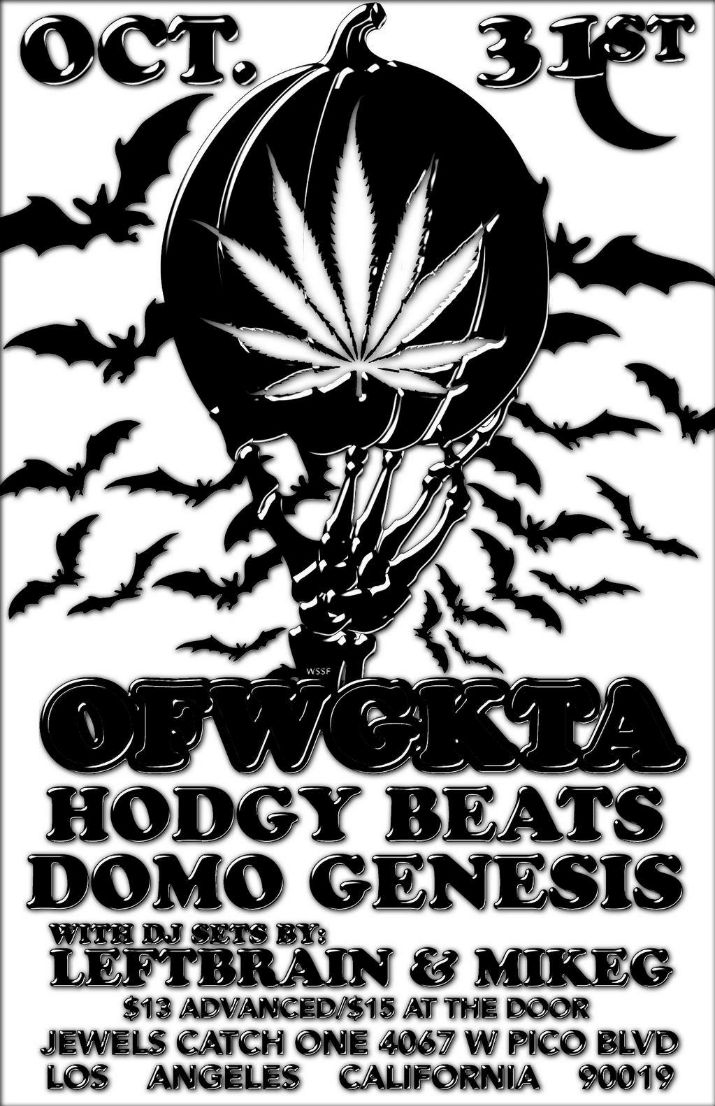Hodgy Beats and Domo Genesis Flyer