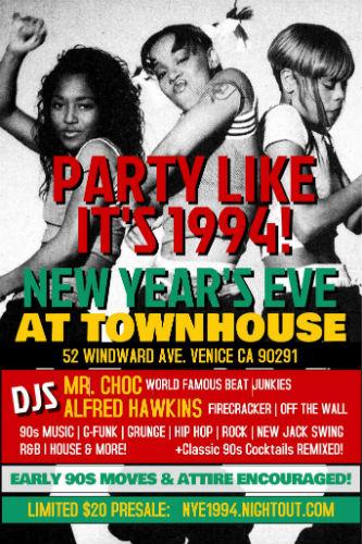 90s Party_Townhouse Venice