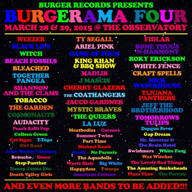 burgerama 2014 lineup poster