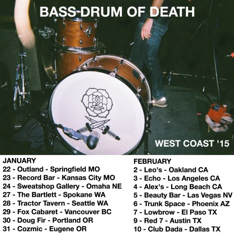 Bass Drum of Death Tour Dates