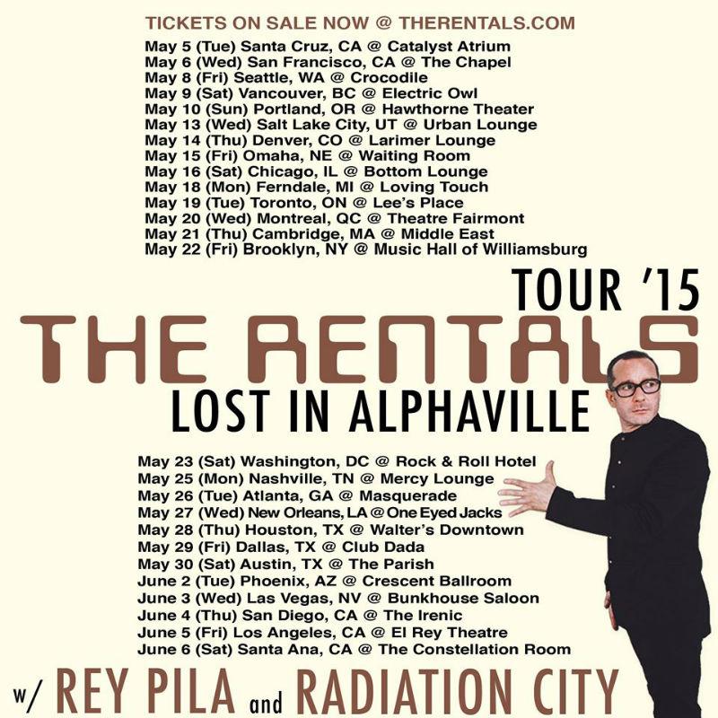 The Rentals Tour Dates