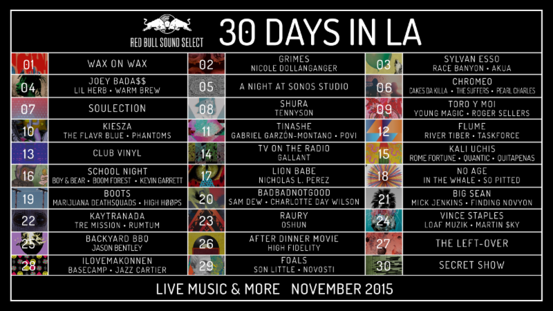 red bull 30 days in la