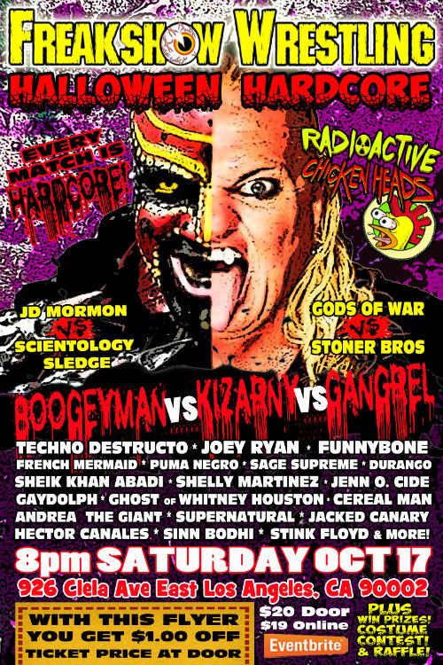 Freakshow Wrestling Halloween Hardcore