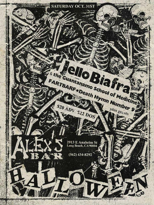 Jello Biafra Halloween Flyer