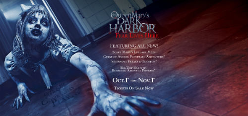 Queen Mary's Dark Harbor Website Flyer