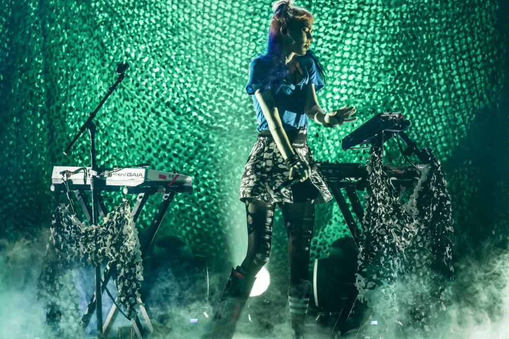 Grimes at Mayan photos