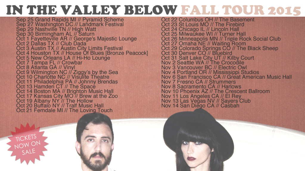 In the Valley Below Tour Dates Flyer