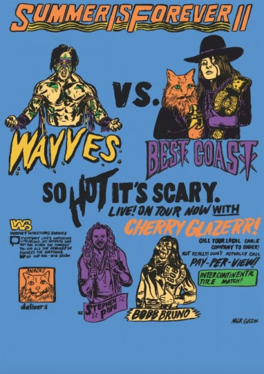 Best coast Wavves poster