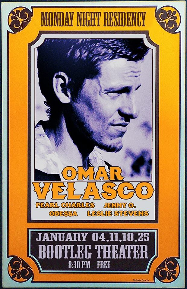 Omar Velasco Bootleg Residency Flyer