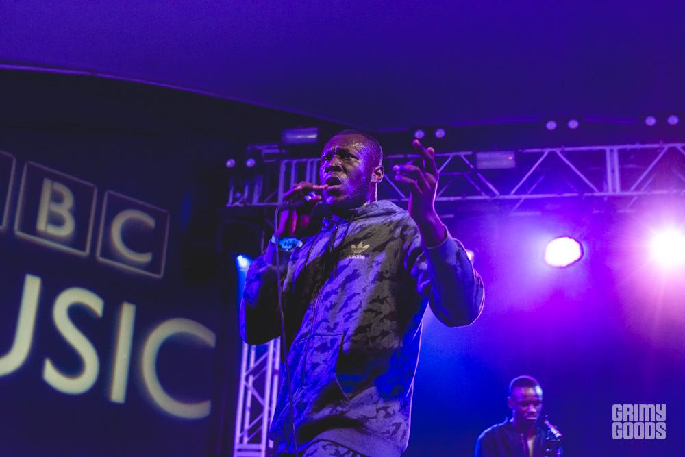 Stormzy at BBC showcase shot by Maggie Boyd