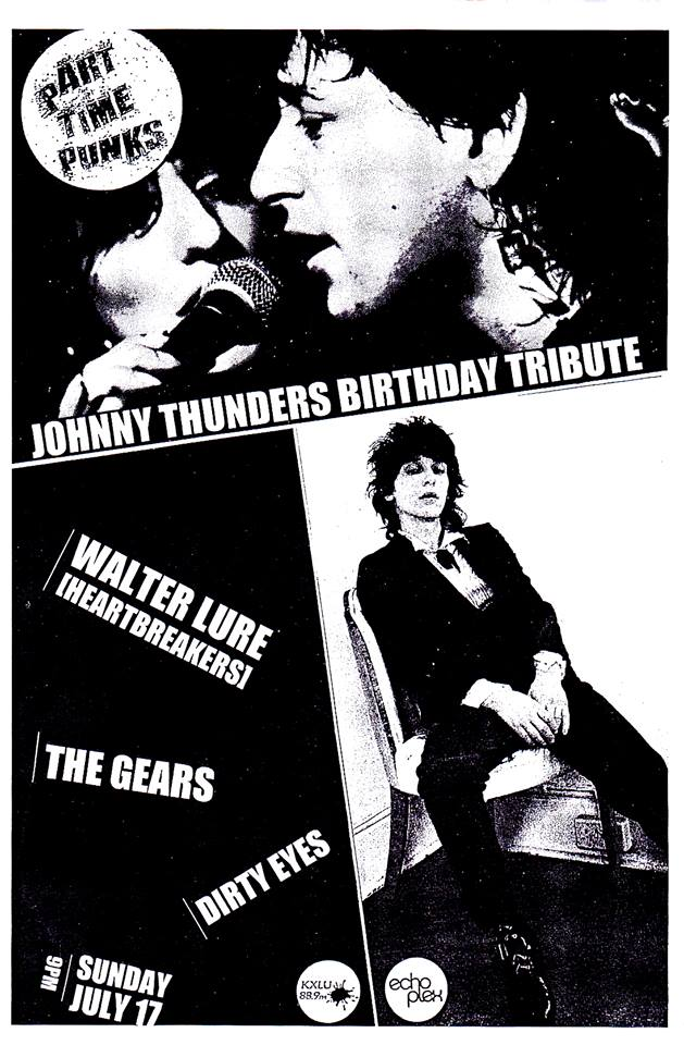 Walter Lure (The Heartbreakers) flyer