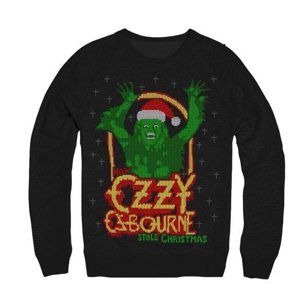 Ozzy Osbourne ugly christmas sweater