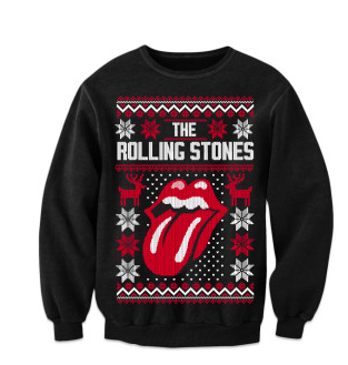 Rolling Stones ugly christmas sweater