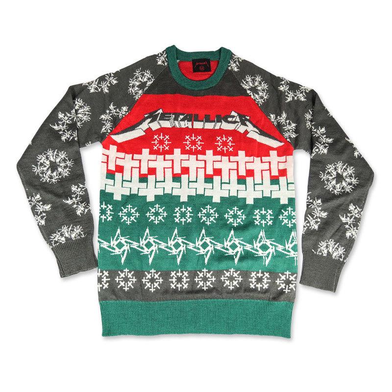 Metallica ugly christmas sweater
