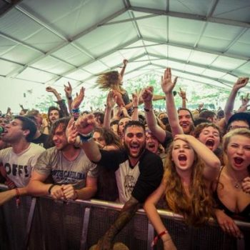concert crowd shot